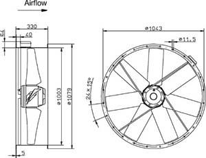 Технические характеристики и схема подключения осевых вентиляторов низкого давления серии AR.  См. также об этой...